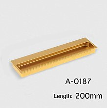 1 pc Champagne Gold Aluminum Hidden Drawer Handle