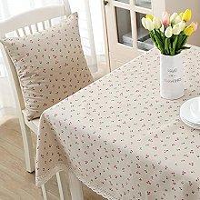 1 Pcs Cotton And Linen Table Cloth Small Daisy