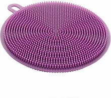 1 Pcs Purple Silicone Scrubber Multifunction