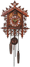 1 Pcs Retro Vintage Wood Cuckoo Wall Clock Hanging
