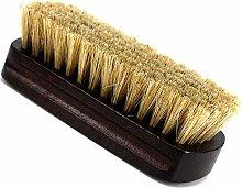 1 Pcs Shoe Brush Pig Hair Wooden Handle Shoes