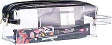1 Piece Transparent Cuboid Pencil Case 2