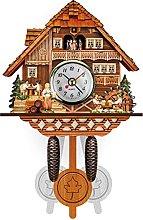 1 Piece Wall Clock Wooden Chalet-Style Premium