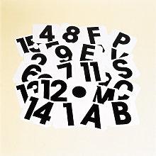 1 Self-Adhesive Label (One Size) (White/Black) -