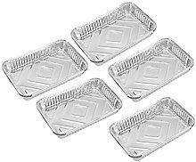 1 Set Aluminum Foil Grill Drip Pans for BBQ Weber