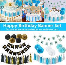 1 Set Kids Paper Happy Birthday Banner Party