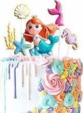 1 Set Mermaid Cake Toppers Mermaid Starfish