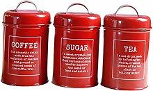 1 Set of Coffee Can/Kitchen Storage Jar/Coffee Tea