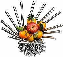 1 Tier Fruit Bowl, Stainless Steel Fruit Bowl