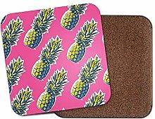1 x Beautiful Funky Pineapple Coaster - Fruit