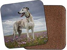 1 x Beautiful Greyhound Coaster - Hound Dog Puppy