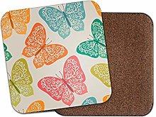 1 x Beautiful Lace Butterflies Coaster - Pretty
