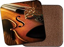 1 x Beautiful Violin Strings Coaster - Musical