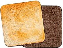1 x Funny Toast Coaster - Bread Food Breakfast Dad