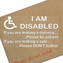1 x I am Disabled Sticker-INTERNAL WINDOW