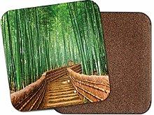 1 x Japanese Bamboo Bridge Coaster - Forest Kyoto