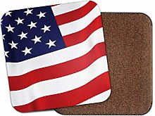 1 x USA Flag Coaster - America Stars and Stripes