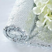 1 Yard Sequin Fabric Shiny Silver Sequin Glamorous