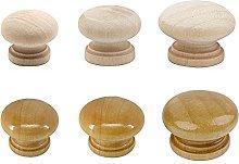 10/20/50pcs 24/27/32mm Natural Wooden