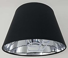 10 '' Black Empire Lampshade Silver Lining