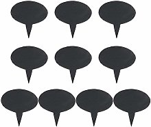 10 Black Slate Cheese Markers Round - Small Rustic Farmhouse Decor Chalkboard Signs for Charcuterie Cheese Board Serving Tray Accessories