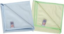 10 Blue Microglass Microfibre Cleaning Cloths.