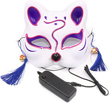10 Color Fox Half Face Mask Neon Lights Halloween