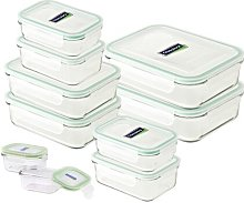 10 Container Food Storage Set Glasslock