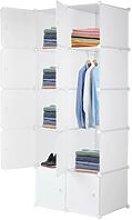 10 Cube Organizer Stackable Plastic Cube Storage