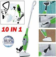 10 In 1 Hot Steam Mop Cleaner 1300W Floor Carpet