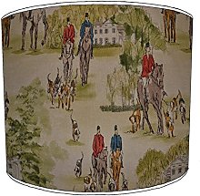 10 Inch Ceiling hunting scene lampshades9