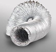 10 inch dia 250mm x 10m Aluminium Flexible Fan