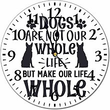 10 inch Fashion PVC Wall Clock Dogs Are Not Our