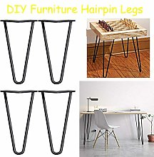 10 inch Industrial Metal Table Legs 4Pcs Heavy