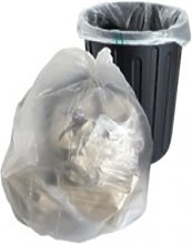10 Large Clear Plastic Polythene Bin Liners Bags