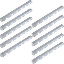 10 LED light strips with motion detector - grey