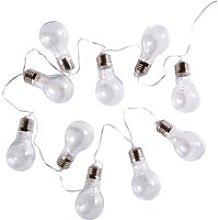 10 Light Bulb Fairy Lights L135