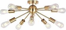 10 Lights-Modern Sputnik Chandelier Lighting,