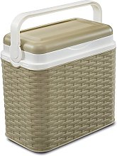 10 Litre Rattan Cooler Box Beige