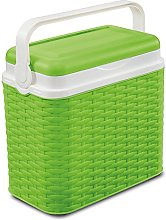 10 Litre Rattan Cooler Box Green