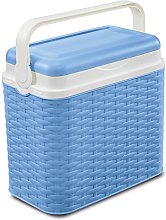 10 Litre Rattan Cooler Box Light Blue