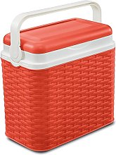 10 Litre Rattan Cooler Box Orange