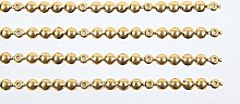 10 METERS OF UPHOLSTERY NAIL STUD STRIPS BRASS