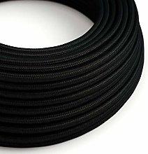 10 Metres - Black 3 Core Vintage Retro Braided