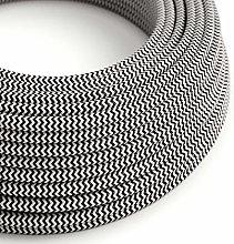 10 Metres - Black & White Herringbone Zig Zag 3