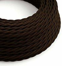 10 Metres - Brown 3 Core Vintage Retro Braided