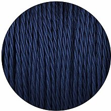 10 Metres Twisted 2 Core Vintage Fabric Braided