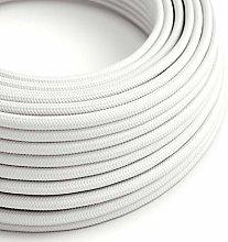 10 Metres - White 3 Core Vintage Retro Braided