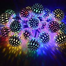 10 Ones Design Solar String Lights Moroccan Ball