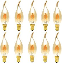 10 Pack 4W Dimmable E14 LED Bulbs, 30W